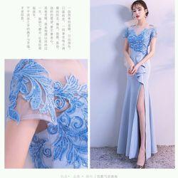 Đầm dạ hội xanh giá sỉ