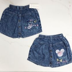 Quần váy jeans bé gái cotton size đại giá sỉ