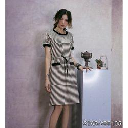 Đầm Thun Sọc Ngang Cotton Cao Cấp Mềm Mát 2165 giá sỉ