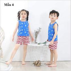 Bộ đồ ở nhà áo ba lỗ quần đùi bé trai và bé gái giá sỉ, giá bán buôn