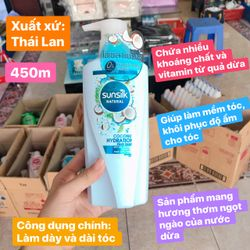 dầu gội sunsilk thái 450ml Thái Lan giá sỉ