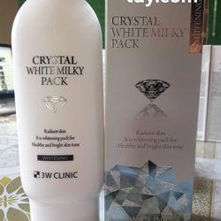 KEM KÍCH TRẮNG BODY CRYSTAL WHITE MILKY PACK 3W CLINIC HÀN QUỐC