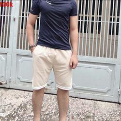 Quần shorts kaki phối 3 sọc nam thời trang giá sỉ, giá bán buôn