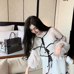 áo kiểu nữ đẹp kiểu hàn quốc dễ thương giá sỉ tiểu thư 2 món BN 95114 giá sỉ