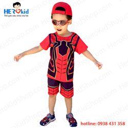 Bộ đồ ngắn siêu nhân người nhện