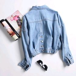 áo khoác jeans nút kiểu giá sỉ