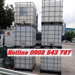 Tank nhựa cũ 1000 lít bồn nhựa cũ 1000 lít thùng nhựa cũ 1000 lít đựng hóa chất tẩy rửa giá sỉ