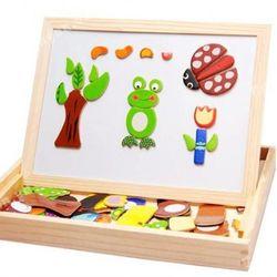 Bộ ghép hình bằng gỗ nam châm cho bé bán sỉ