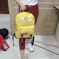 Balo đi học nam nữ trơn màu phong cách Hàn Quốc chất vải kaki đẹp giá sỉ