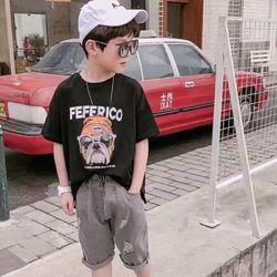 set áo thun và quần jeans cho bé trai giá sỉ