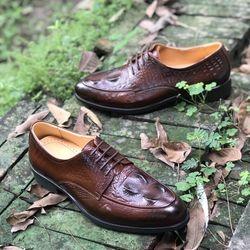 giày lười da nam - chất da bò nguyên tấm 100đế cao su chắc chăn đế êm giá sỉ