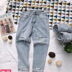 Quần baggy jeans nữ ảnh thật giá sỉ