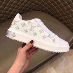 Giày nam thể thao màu trắng chất da bò giá sỉ