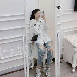 áo sơ mi nữ đẹp hàn quốc kiểu công sở điệu logo dài tay hai túi ngực BN 64427 giá sỉ
