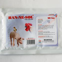 HAN-NE-SOL 100g Thuốc kháng sinh bột uống trị bệnh đường hô hấp tiêu hóa viêm ruột trên gia súc gia cầm chó mèo giá sỉ