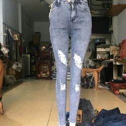 Xưởng sỉ quần jean dài nữ thời trang giá sỉ