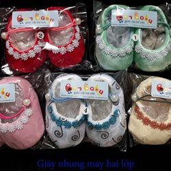 Giày hài ngọc trai tập đi cho bé giày vớ sơ sinh giữ ấm cho bé gái từ 0-18 tháng tuổi giá sỉ