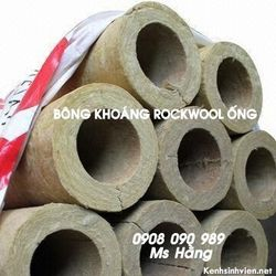 Ống Rockwool định hình bảo ôn đường ống hơi nóng 450 độ C giá sỉ