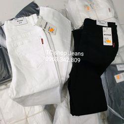 Quần Kaki Jeans Loe Đen Trắng giá sỉ