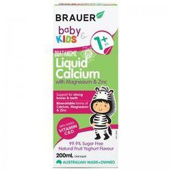 Brauer Baby Kids Liquid Calcium With Magnesium Zinc Úc Cho Trẻ Trên 1 Tuổi - 200ml giá sỉ