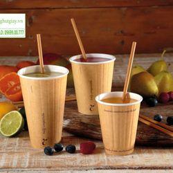 Ống hút giấy nâu kraft cho cà phê sinh tố trà sữa nhiều màu giá sỉ