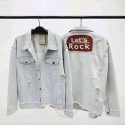 áo khoác jeans Lets Rock unisex nam nữ giá sỉ