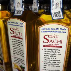 Dầu Sachi ép lạnh giá sỉ Dầu Sacha inchi cao cấp tinh khiết chai 250 ml giá sỉ Dầu Sachi thực dưỡng ăn chay thay thế dầu cá dầu oliu giá sỉ