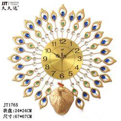 Đồng hồ trang trí chim công vàng xòe cánh JT1765MB JJT