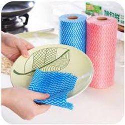 Cuộn khăn lau đa năng homeeasy - 50 miếng 1434 giấy lau