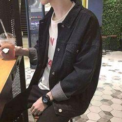 Áo khoác jeans trơn unisex giá sỉ