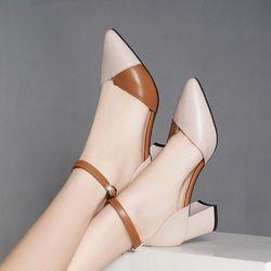 Giày sandal da phối bít mui giá sỉ