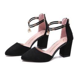Giày sandal cao got quai đính đá giá sỉ