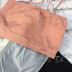 Áo Bra Quây Gân Tăm Co Giãn 4 Chiều Có Đệm Ngực Cotton ảnh thật 100/100 giá sỉ, giá bán buôn