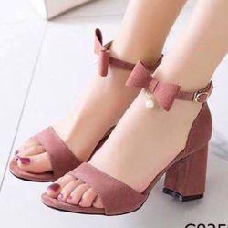 Giày sandal nơ nỉ giá sỉ