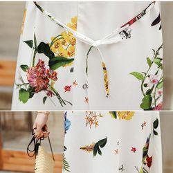 Đầm bầu in hoa lá thời trang giá sỉ, giá bán buôn