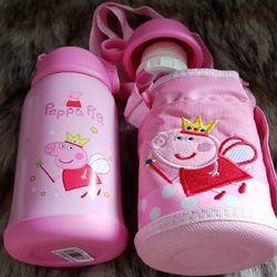 Bình đựng nước 600ml cho bé đi học giữ nhiệt 12 giờ có ống hút và tặng kèm túi vải giá sỉ