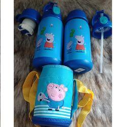 Bình đựng nước 600ml cho bé đi học giữ nhiệt 12 giờ có ống hút và tặng kèm túi vải giá sỉ, giá bán buôn