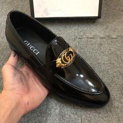 Giày nam giày lười guci chất da bò bóng giá sỉ
