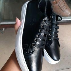 giày dép giày nam thể thao nam chất da bò đế trắng khâu đế sẵn giá sỉ