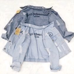 áo khoác jean nữ siêu hot