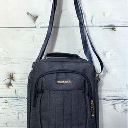 Túi đeo chéo vải màu xanh navy có quai xách thời trang TDC0017 giá sỉ