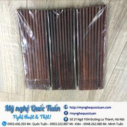 Túi 10 đôi đũa gỗ trắc hàng chuẩn không sử dụng hóa chất giá sỉ