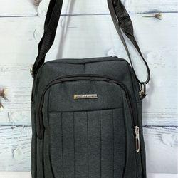 Túi đeo chéo vải màu xám đen có quai xách TDC0018 giá sỉ