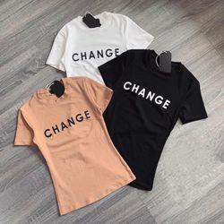 Áo thun chữ CHANGE form body siêu chuẩn giá sỉ