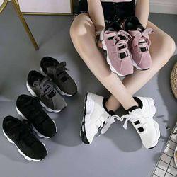 Giày sneaker nữ ulzzang đế gồ kiểu hàn quốc HAPU đen trắng giá sỉ