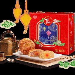 Phú Quý Lộc Quyền Lai - Bánh trung thu Kinh đô hộp 4 bánh giá sỉ