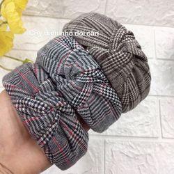 turban vải kẻ-hàng cao cấp giá sỉ