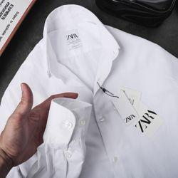 Áo somi trắng đen cotton thấm hút mồi hôi giá 110k- 120k