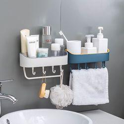 Kệ treo tường đựng đồ phòng tắm có 4 móc giá sỉ