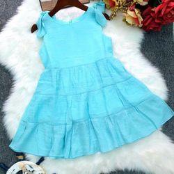 Đầm thiết kế tầng nơ vai cho bé gái giá sỉ tphcm